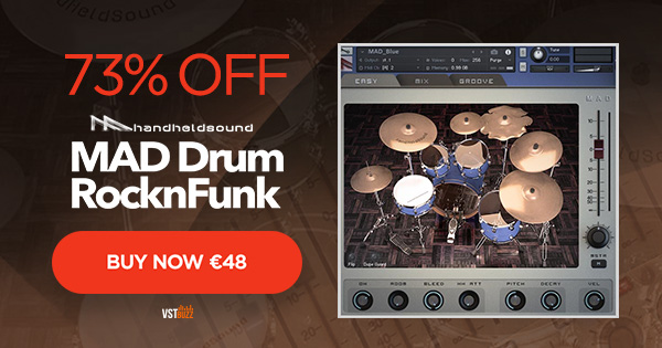 73% OFF MAD Drum RocknFunk Virtual Drum Instrument For Kontakt 5!