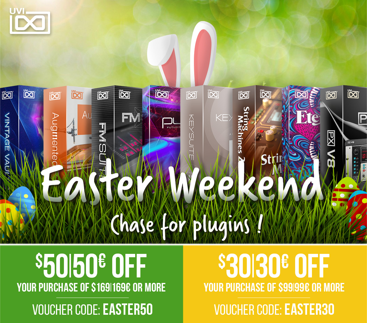 UVI Easter Sale With Discounts Up To $50/50€ On Falcon