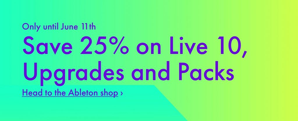 Ableton Live Upgrade Sale
