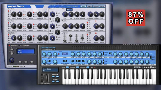 Novation V-Station & Bass Station Synthesizer Bundle