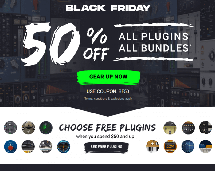 Save 50 Off Waves Audio Plugins Bundles Black Friday Sale