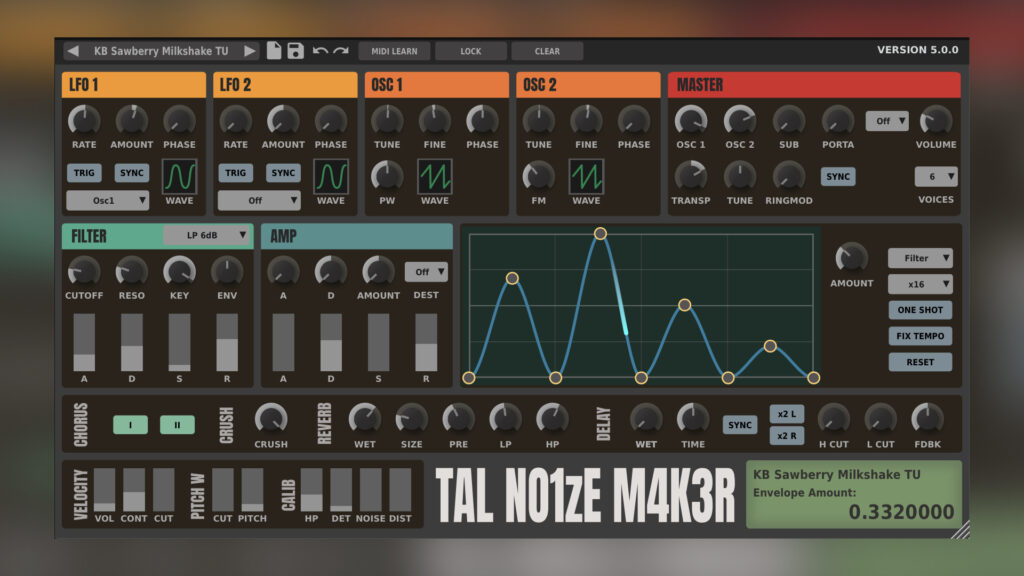 TAL NoiseMaker GUI